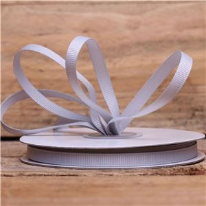 Basics 2 Go Grosgrain Ribbon - 6mm Shell Grey