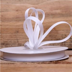 Basics 2 Go Grosgrain Ribbon - 6mm White