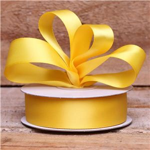 Basics 2 Go Satin Ribbon - 23mm Yellow