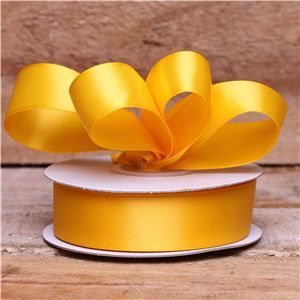 Basics 2 Go Satin Ribbon - 23mm Yellow Gold