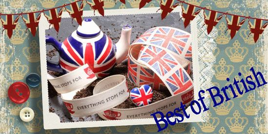 jubilee ribbons, best of british, made in england ribbons