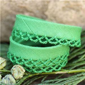 Bias Binding Christmas - Crochet Edge Green