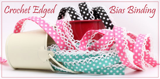 crochet edge bias binding
