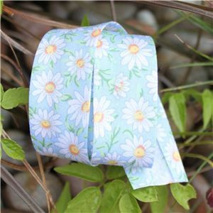 Bias Binding Flowers - Daisy Blue