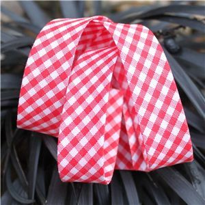 Bias Binding Gingham - Red