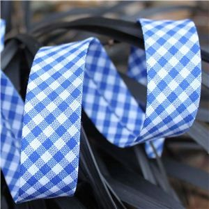 Bias Binding Gingham -Royal