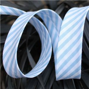 Bias Binding Stripe - Lt Blue