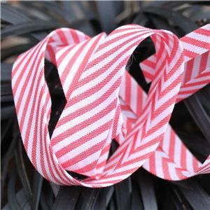 Bias Binding Stripe - Red