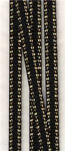 Bling Gold Edge Ribbon - Black