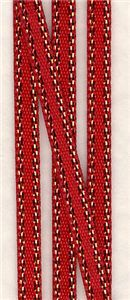 Bling Gold Edge Ribbon - Red