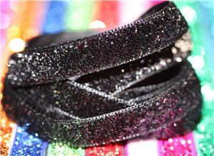 Bling Velvet Ribbon - Black