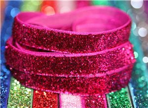 Bling Velvet Ribbon - Wine