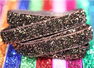 Bling Velvet Ribbon - Brown