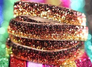Bling Velvet Ribbon - Topaz