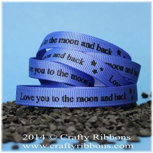 Aliens Ribbon - Moon and back Blue