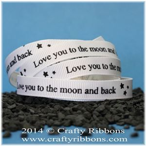 Aliens Ribbon - Moon and back White