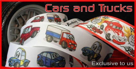 car and truck ribbons