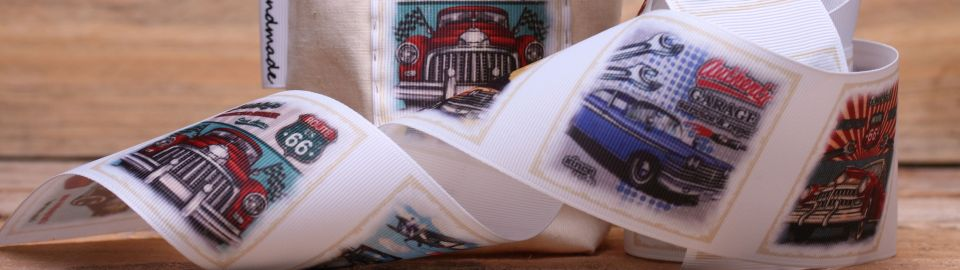 retro car ribbon