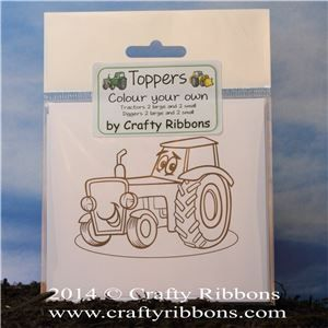 Tractor Digger Toppers - colour your own