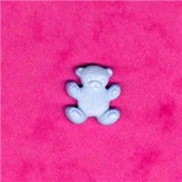 Novelty Button - Blue Teddy
