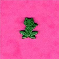 Novelty Button - Green Frog