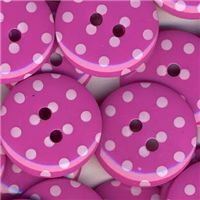 Spotty Button - Bright Pink