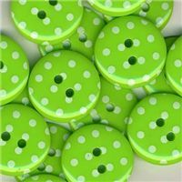 Spotty Button - Lime