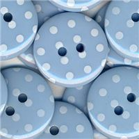 Spotty Button - Lt Blue