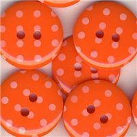Spotty Button - Orange