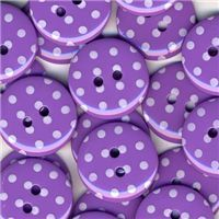 Spotty Button - Purple