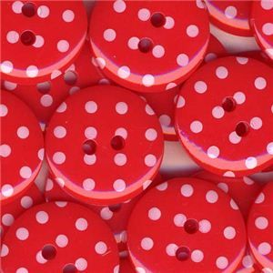 Spotty Button - Red