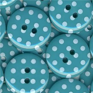 Spotty Button - Turquoise