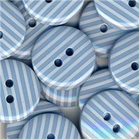 Stripe Button - Blue