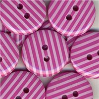 Stripe Button - Bright Pink