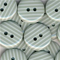 Stripe Button - Mint