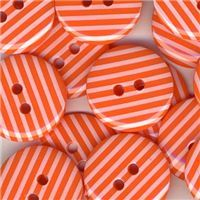 Stripe Button - Orange