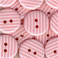 Stripe Button - Pink