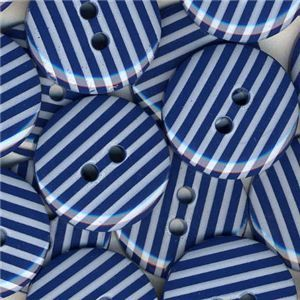 Stripe Button - Navy
