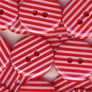 Stripe Button - Red