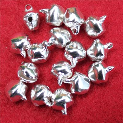 Christmas Button - Bell Small Silver