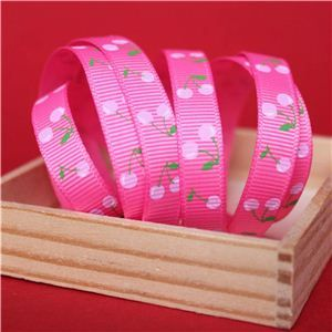 Cherry Pick Ribbons - 10mm Hot Pink