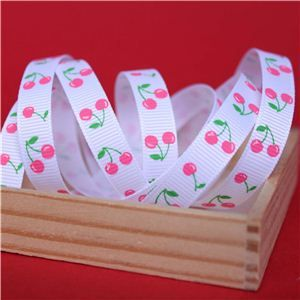 Cherry Pick Ribbons - 10mm White