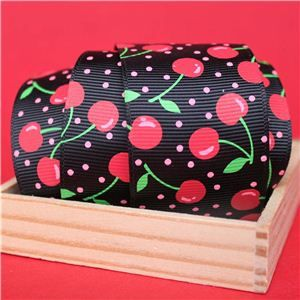 Cherry Pick Ribbons - 40mm Black