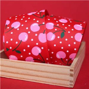 Cherry Pick Ribbons - 40mm Poppy Red