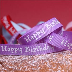Cake Ribbons - Happy Birthday Lilac