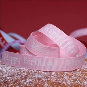 Cake Ribbons - Happy Birthday Pink