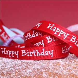 Cake Ribbons - Happy Birthday Red