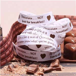 Chocolate Ribbons - Sentiment White
