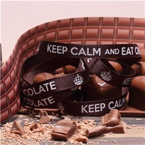 Chocolate Ribbons - Keep Calm Dark
