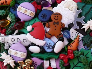 hristmas buttons